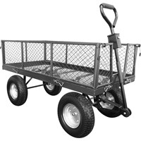 Handy THLGT Large Steel Garden Trolley with Punctureless Wheels