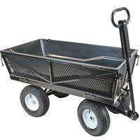 Handy THMPC Multi Purpose Tipping Towable Garden Trolley
