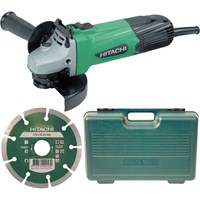 Hitachi G12SS Mini Angle Grinder 115mm Diamond Blade & Case