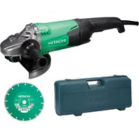 Hitachi G23St 230mm Angle Grinder Diamond Blade & Case