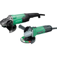 Hitachi 230mm/115mm Angle Grinder Twin Pack