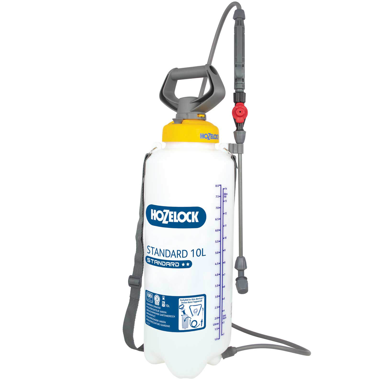 Hozelock STANDARD Water Pressure Sprayer 10l