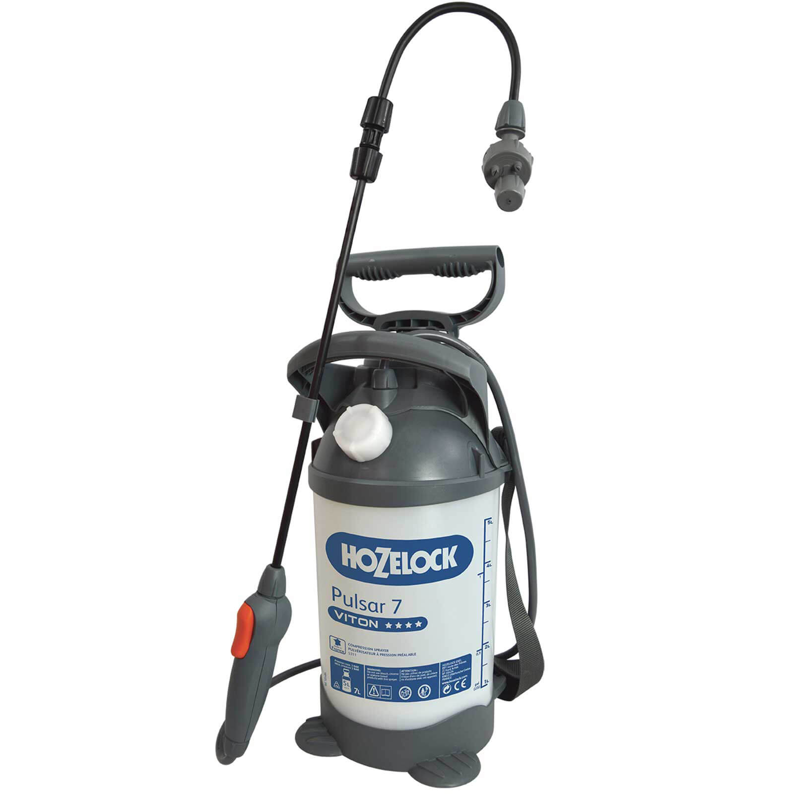 Hozelock PULSAR VITON Chemical Liquid Pressure Sprayer 7l