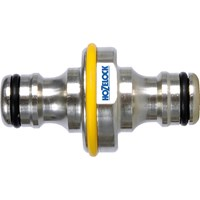 Hozelock Pro Metal Double Ended Male Hose Pipe Connector