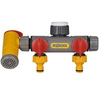 Hozelock Flow Max 2 Way Threaded Tap Hose Pipe Connector