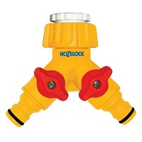 Hozelock Plastic Dual Threaded Tap Hose Pipe Connector