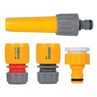 Hozelock Nozzle and Threaded Tap Hose Pipe Connector Starter Set