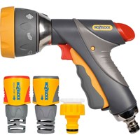 Hozelock Multi Spray Pro Gun and Plus Fittings Set