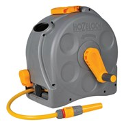 Hozelock Compact Enclosed Floor & Wall Mounted Hose Reel