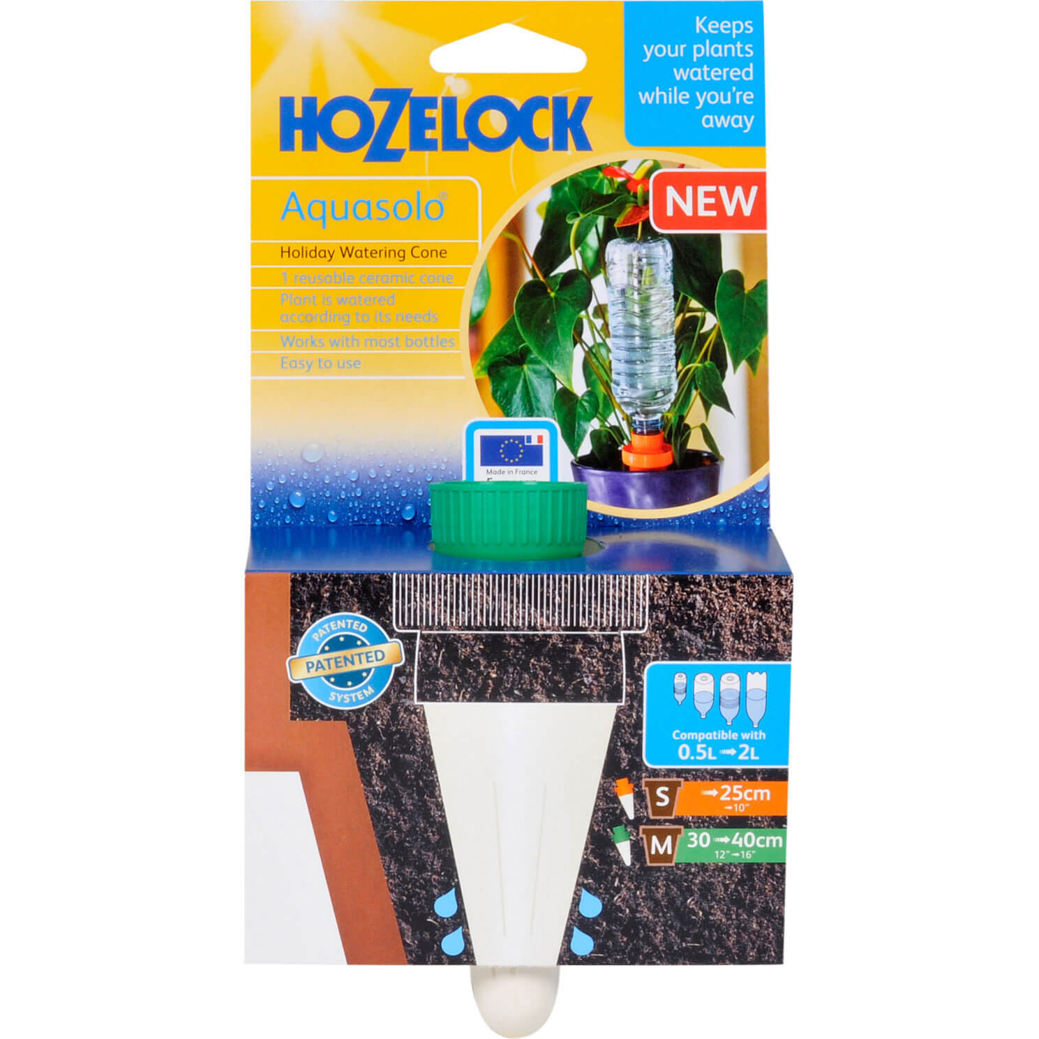 Image of Hozelock Aquasolo Water Bottle Cones Green Pack of 1