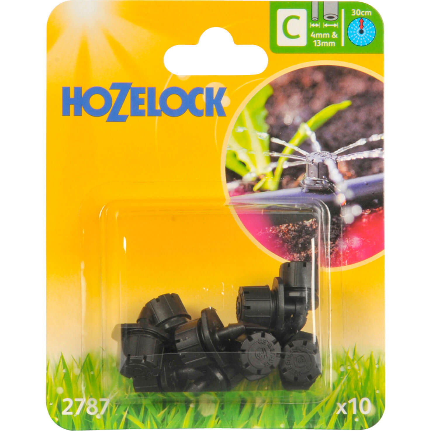 Hozelock CLASSIC MICRO End Line Mini Sprinkler 532  4mm Pack of 10