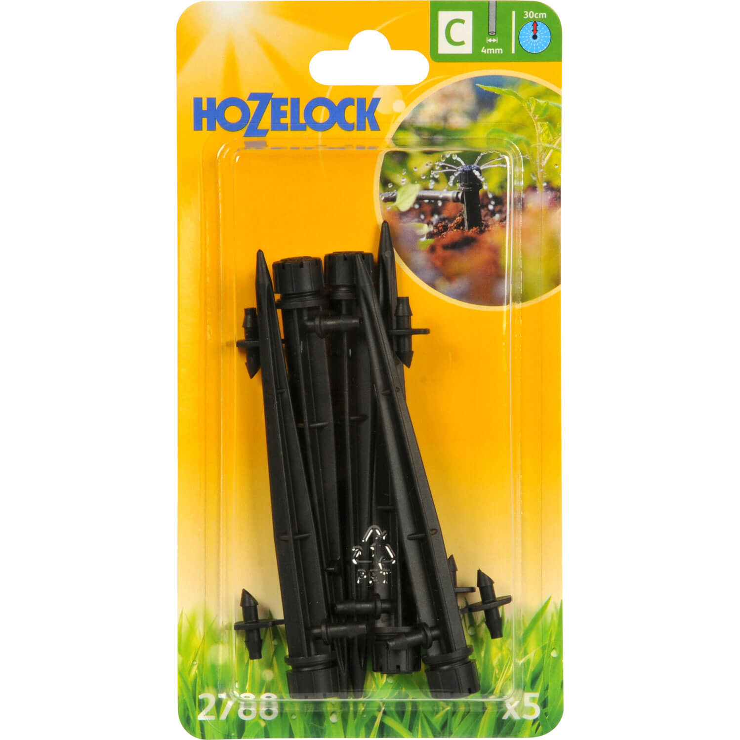 Hozelock CLASSIC MICRO End Line Mini Sprinkler Stake 532  4mm Pack of 5