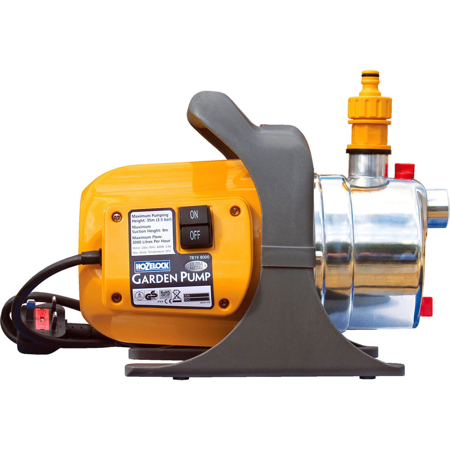 Hozelock 7819 Ultra Metal Garden Water Pump 240v