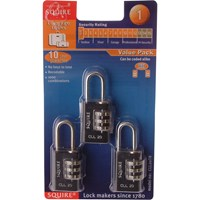 Henry Squire Combination Padlock Pack of 3