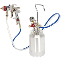 Sealey HVLP-79/P Pressure Pot System Spray Gun and Hoses Set