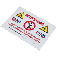 Sealey Hybrid Electric Vehicle Warning Sign