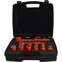 "ITL 12 Piece 1/2"" Drive Insulated Bi Hexagon Socket Set"