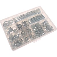 Jubilee 143 Piece Zinc Plated Hose Clip Assortment Set