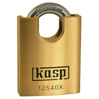 Kasp 125 Series Premium Brass Padlock Closed Shackle
