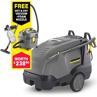 Karcher HDS 7/10-4 M Professional Hot Water Steam Pressure Washer 100 Bar FREE Foam Nozzle & Hose Kit Worth £110.90