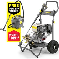Karcher HD 8/20 G Professional Petrol Pressure Washer 200 Bar FREE Wet & Dry Vacuum Worth £149.95