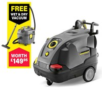 Karcher HDS 5/12 C Professional Hot Water Pressure Washer 120 Bar FREE NT 20/1 Wet & Dry Vacuum Worth £149.95