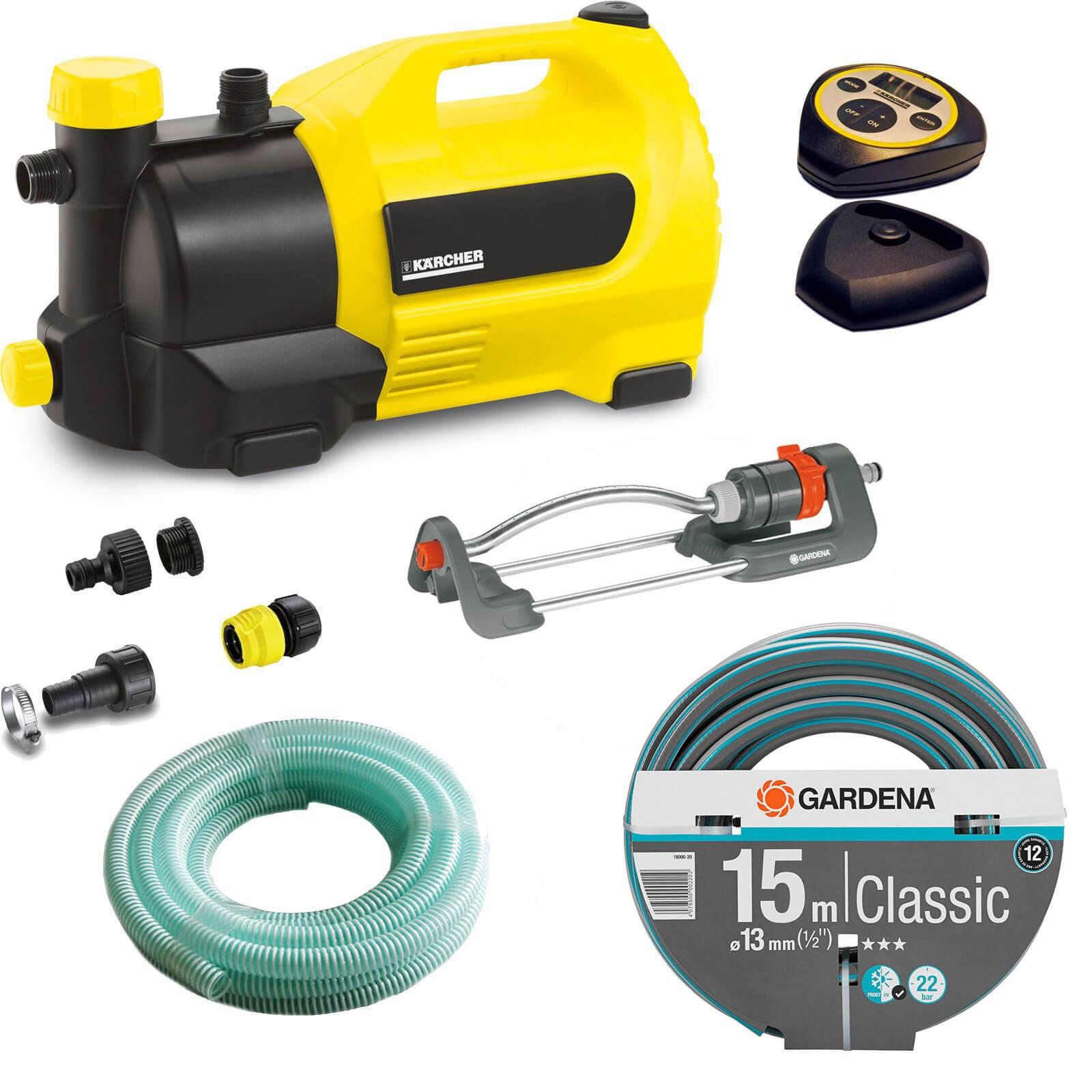 garden hose pump. Karcher GP 50 MC Surface Water Pump With Garden Hose \u0026 Oscillating Sprinkler Kit