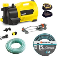 Karcher GP 50 MC Surface Water Pump with Garden Hose & Oscillating Sprinkler Kit