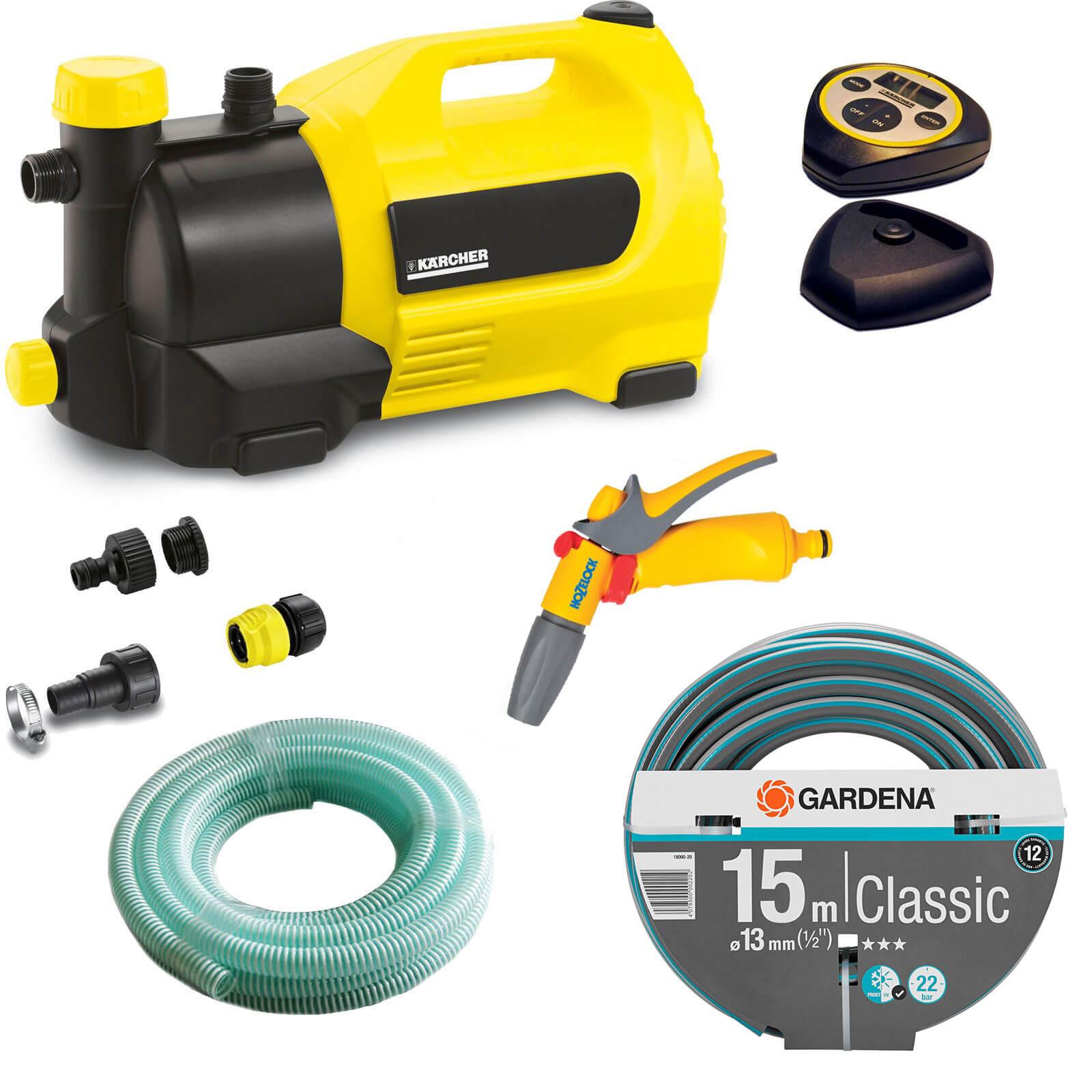 Karcher GP 50 MC Surface Water Pump with Garden Hose & Water Spray Gun Kit 240v