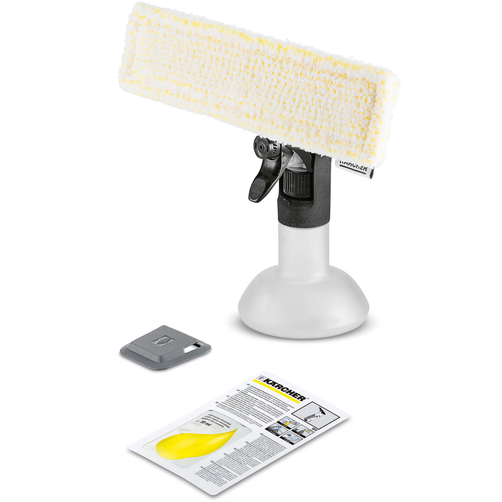 Karcher Premium Spray Bottle and Microfibre Pad Kit for Window Vacs