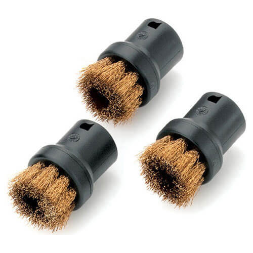 Karcher Round Brushes with Brass Bristles for SC Steam Cleaners Pack of 3