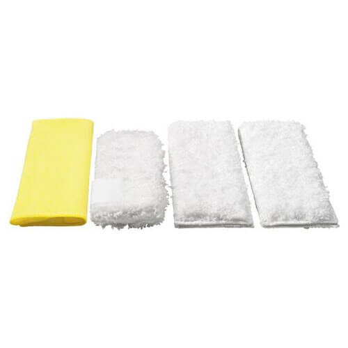 Karcher Various Floor Tool Kitchen Microfibre Cloths for SC DE & SG Steam Cleaners Pack of 4