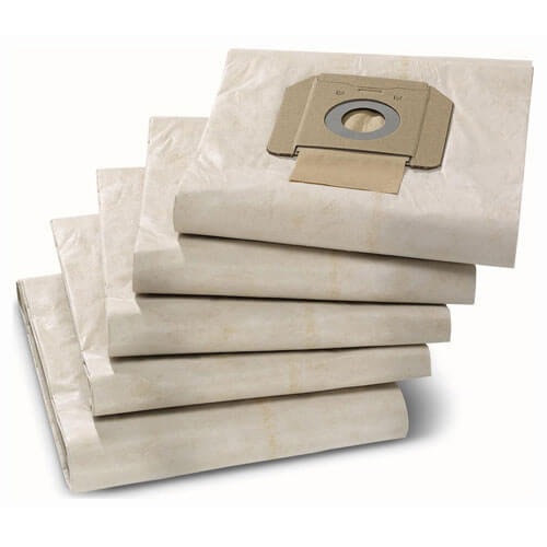 Karcher M Class Paper Filter Dust Bags for NT 48/1, 65/2 and 70/2 Vacuum Cleaners Pack of 5
