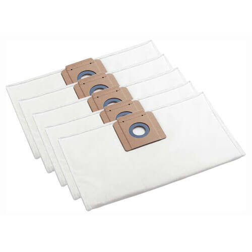 Karcher M Class Fleece Filter Dust Bags for NT 35/1, 361 and 45/1 Vacuum Cleaners Pack of 5