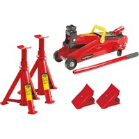 Supatool Trolley Jack and Axle Stand Set