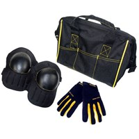 Kunys Tool Bag, Knee Pads and Work Gloves Set