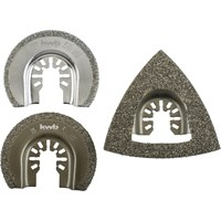 KWB 3 Piece Tile Repair Multi Tool Accessory Set