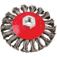 KWB Cranked Twist Knot Wire Brush