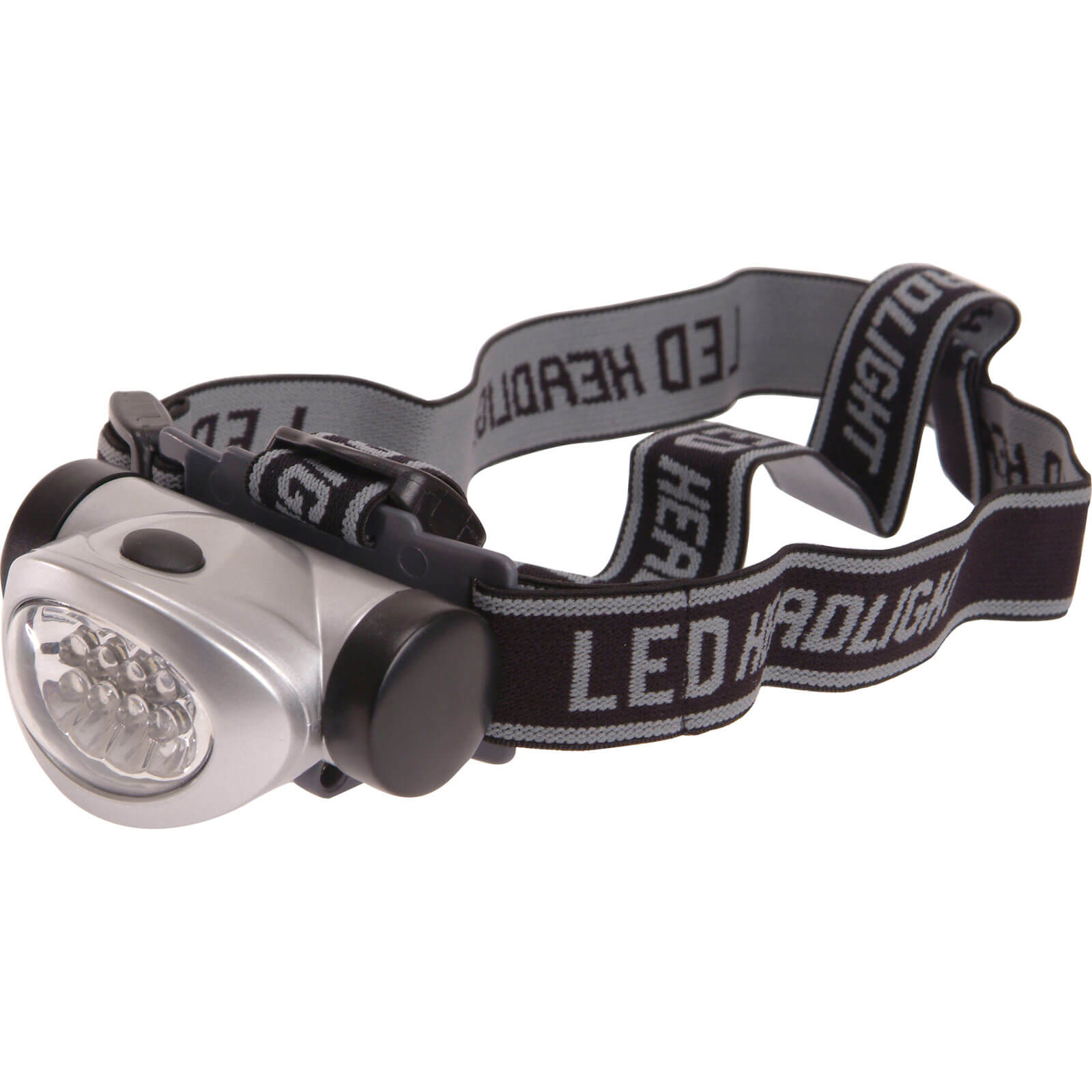 Lighthouse 8 LED Head Torch 3 Function Silver