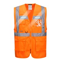 Portwest Orion Executive Class 2 Hi Vis LED Waistcoat