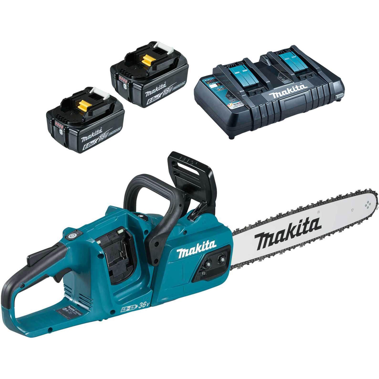 Makita DUC355 18V LXT Brushless Chainsaw 350mm 2 x 6ah Li-ion Charger