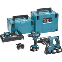 Makita DLX2137PMJ 18v Cordless LXT Combi and SDS Drill Kit