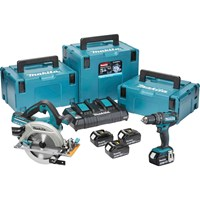 Makita DLX2140PMJ 18v Cordless LXT Combi Drill and Circular Saw Kit