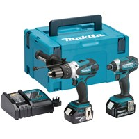Makita DLX2145 18v Cordless LXT Combi Drill and Impact Driver Kit