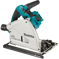 Makita DSP600ZJ Twin 18v LXT Cordless Brushless Plunge Saw Kit