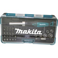 "Makita 47 Piece 1/4"" Drive Ratchet Screwdriver, Bit and Socket Set"