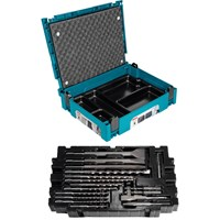 Makita 17 Piece SDS Drill & Chisel Set in Makpac Case