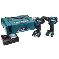 Makita CLX205AJ 12v Cordless CXT Brushless Combi Drill and Impact Driver Kit