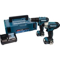 Makita CLX228AJ 12v CXT Cordless Combi Drill and Impact Driver Kit