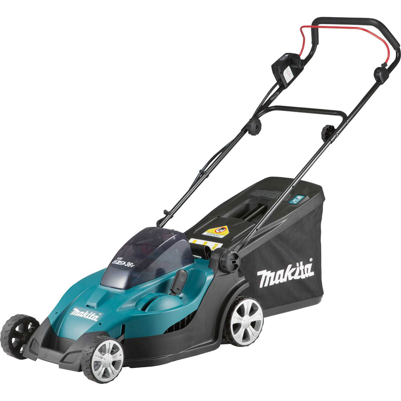 Image of Makita DLM431 Twin 18v Cordless Rotary Lawnmower 430mm 4 x 3ah Li-ion Charger